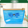 Голубой PVC Bag Popular Cheap Single Handle с Bowknot