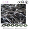 E. Galvanized DIN766 Welded Steel Link Chain para Marine Lifting
