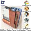 Hölzerner Farben-thermischer Bruch-schiebendes Aluminiumfenster für Landhäuser, Abnehmer bildete thermischen Bruch Aluminiumfenster mit festem Holz
