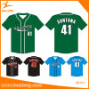 ユニフォームに着せるチーム刺繍のロゴの卸売の野球のジャージーの安いカスタムワイシャツ