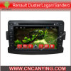Auto-DVD-Spieler für Pure Android 4.4 Car DVD-Spieler mit A9 CPU Capacitive Touch Screen GPS Bluetooth für Renault Duster/Logan/Sandero (AD-7050)