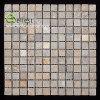 Pequeño mosaico amarillento ligero al por mayor de la pizarra 24X24 del grano para el recubrimiento de paredes interior