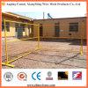 PVC pulvérisant la barrière provisoire extérieure colorée de treillis métallique