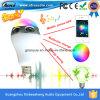 El color multicolor que cambia E27 B22 LED enciende el altavoz elegante de los bulbos de Bluetooth