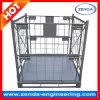 Paleta plegable de la jaula del metal/empilar el contenedor de la estantería de secado