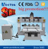 2017 neu! ! Weihnachtsverkaufs-metallschneidende Maschine 1212 1325 multi Kopf-Tisch-Bewegungs-Typ CNC-Fräsmaschine