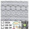 Fabbricato di nylon C0104 del merletto del poliestere del cotone della Cina della Parte superiore-Un