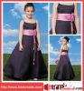 Schaufel-Satin-Kind-Abnutzungs-langes Blumen-Mädchen-Kleid (6634)