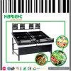 Стеллаж для выставки товаров фрукт и овощ металла супермаркета