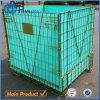 Empilhando a gaiola Foldable do engranzamento do metal do armazenamento da pré-forma do animal de estimação