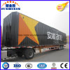 Tri eixos 53FT Van/reboque de trator logístico de serviço público caminhão da caixa/carga Semi