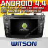 マツダ3のためのWitson Android 4.4 Car DVD Chipset 1080P 8g ROM WiFi 3GのインターネットDVR Supportとの2009-2012年