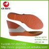 Gekleurde Duurzame Zool gz-7751 van het Sandelhout van de Vrouwen van de Hiel van de Wig Hoge