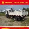 Caminhão 2016 montado caminhão do guindaste de Sinotruck 4X2 5t para a venda