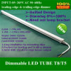 De nieuwe LEIDENE Buis T8 verenigde Dimmable 18W 120cm Hoge Output 85~265V AC van het Lumen (MUT884F18W065C)
