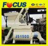 La betoniera di vendita dell'asta cilindrica calda del gemello, Js1500 ha forzato la betoniera