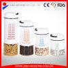 Venta caliente que cubre el tarro de cristal del almacenaje del caramelo decorativo con la tapa