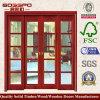 居間MDFの外部のガラス純木のドア(XS3-018)