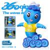 Mascote azul inflável da onda (BMBC270)