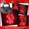 Laser vermelho da escrita da animação do cartão do SD