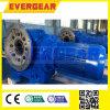 Motor helicoidal montado borde/caja de engranajes del engranaje cónico