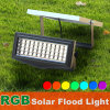 Modèle neuf solaire de lumière d'inondation de la lumière RVB de jardin de la magie DEL d'horizontal à la maison