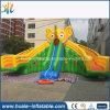 Diapositivas dobles inflables gigantes del carril, diapositiva inflable del elefante de China para el adulto