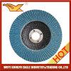 Disco estándar de la solapa del Zirconia de 4 pulgadas para el acero inoxidable