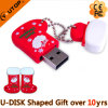 Socking Navidad USB Flash USB PVC regalo Drive (YT-Socking)