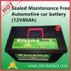 Gedichtete wartungsfreie Automobilautobatterie (12V80Ah)
