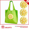 Kompakte Zitrone-faltender Beutel des Polyester-210d, Einkaufstasche (CG128)
