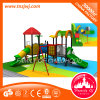 Ponte da câmara de ar e campo de jogos plástico ao ar livre das crianças de Digitas da corrediça espiral