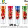 бутылка воды Infuser свежих фруктов 600ml, BPA освобождает пластичную бутылку воды (HDP-0846)