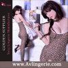 Lingerie sexy de Crotchless Bodystocking d'impression du léopard des femmes (KS09-002)