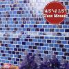 煉瓦とらわれの濃紺の組合せの溶けるガラスモザイク・タイル(BGZ014)