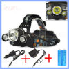 30W 5000lm 3 Xml T6 재충전용 LED Headlamp