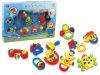 Dos brinquedos plásticos do anel do bebê chocalho engraçado do bebê (H7683073)
