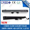 Nouveau guide optique simple 100W-250W du CREE LED de voiture de rangée