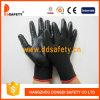 Черный нейлон с черным нитрилом Glove-Dnn429
