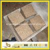 Outdoorの庭のためのG682 Rusty Yellow Granite Cube Stone