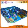 Equipamento plástico do campo de jogos das crianças internas do tema do Aqua