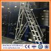 Plataforma móvil del uso del almacén de Family&, escaleras de aluminio