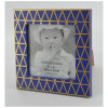 Frame blu con Golden Line per Home Decoration