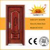Puerta labrada de la seguridad del acero inoxidable, precio de acero Filipinas (SC-S124) de la puerta