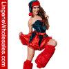 Клобук и платье Costume волосатого рождества ног взрослый сексуальное