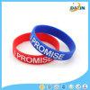 Seul bracelet de silicones de type de cadeau promotionnel personnalisé par prix de gros