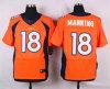 Os broncos #18 que equipam a laranja da elite costuraram em Jersey
