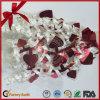 La forme de coeur mélangent vers le haut la proue s'enroulante de chaîne de caractères de cadeau de couleur