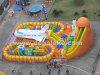 Parco di divertimenti gonfiabile della città di divertimento dell'aeroplano, trasparenza gigante dell'aeroplano con l'ostacolo