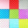 Servilletas de papel impresas modificadas para requisitos particulares serie coloreadas del coctel llano de las servilletas de papel de los puntos